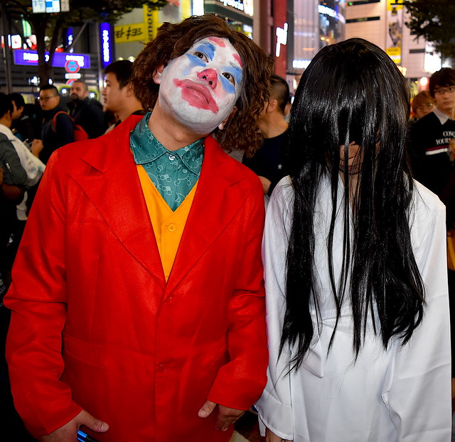Joker and Sadako - Halloween Couple in Tokyo