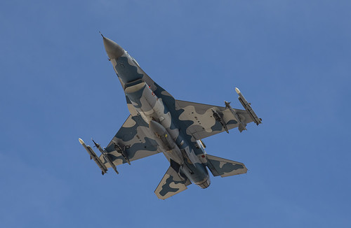 Underside of the Blue F-16 Aggressor
