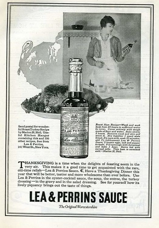 Lea & Perrins Sauce 1917 Thanks