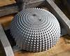 08. Cast aluminum cap from 3D printed mold for design program study.
