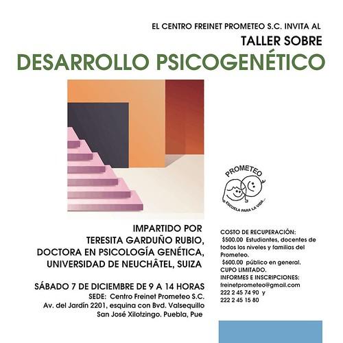 Taller de desarrollo psicogenético (teoría de Jean Piaget) en el Centro Freinet Prometeo