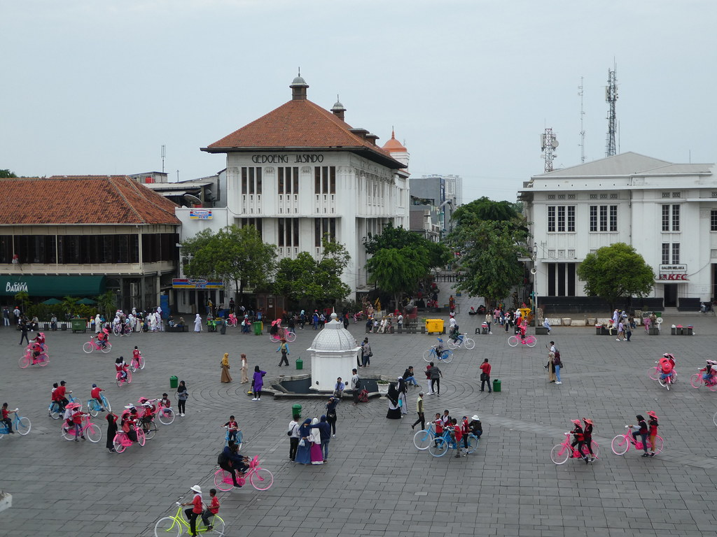 Fatahillah Square in the colonial district of Jakarta