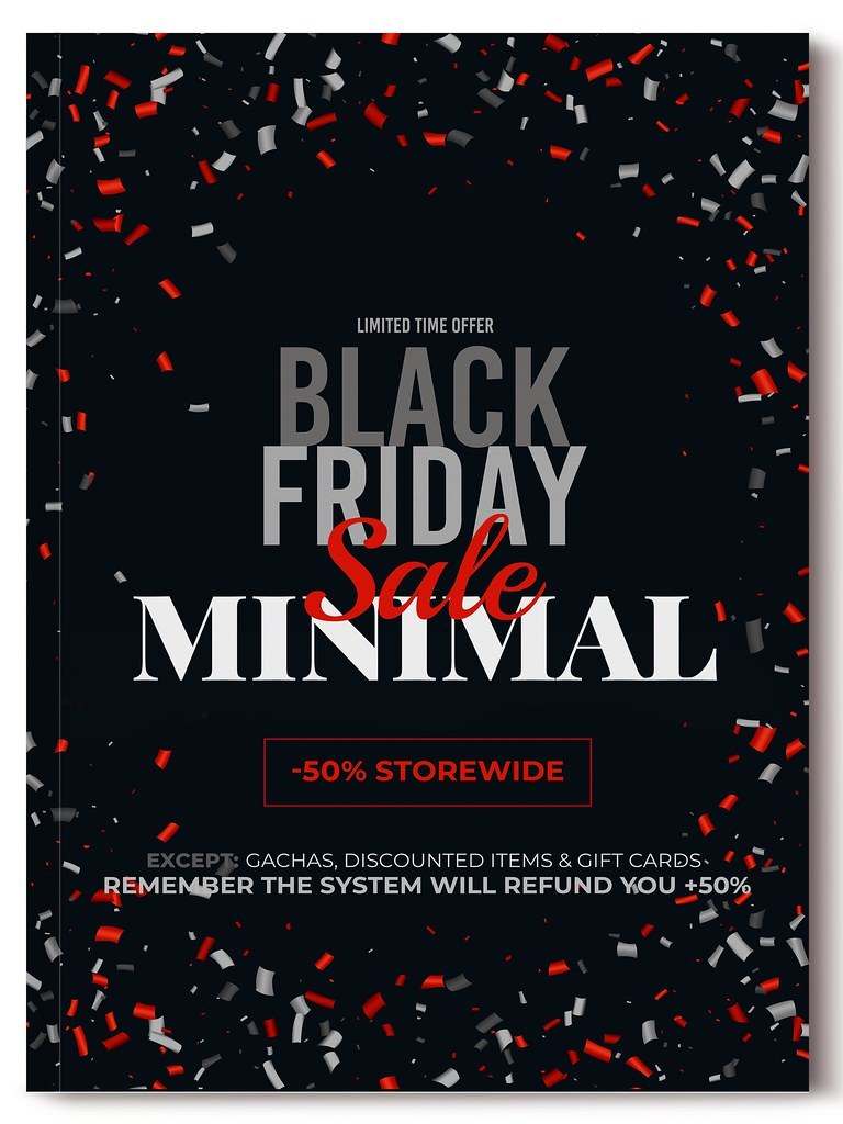 MINIMAL – Black Friday 2019