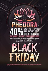 Phedora.​  Black Friday Sales!!!