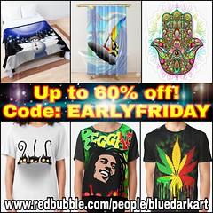🔥☆ #Sale ☆ 🔥 #up to 60% off! Code: EARLYFRIDAY 🔥  On #bluedarkart Redbubble #shop! 👉 www.redbubble.com/people/BluedarkArt 🔥 #designs © #BluedarkArt #TheChameleonArt