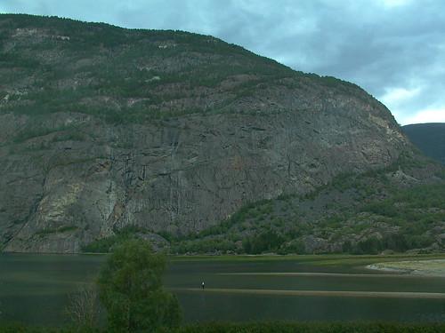 lærdal norway mountain view sognogfjordane
