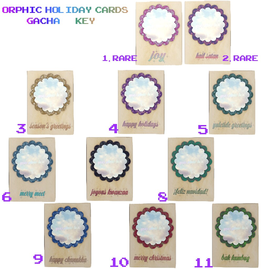 Orphic Holiday Cards (Write Your Own) Gacha Key