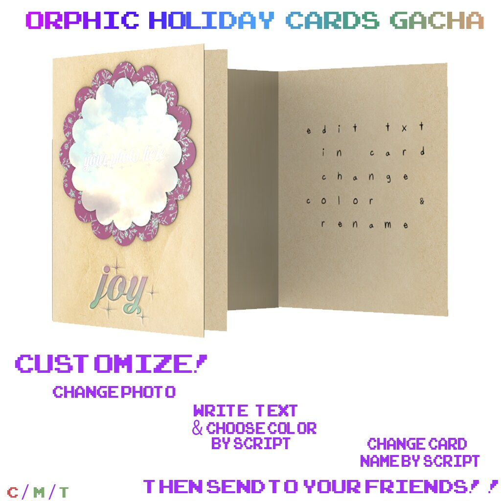 Orphic Holiday Cards (Write Your Own) Ad