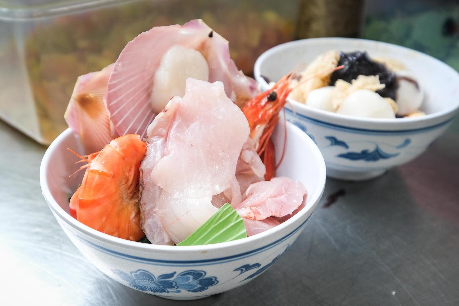 Sun的美食厨房用于泡饭新鲜的食材