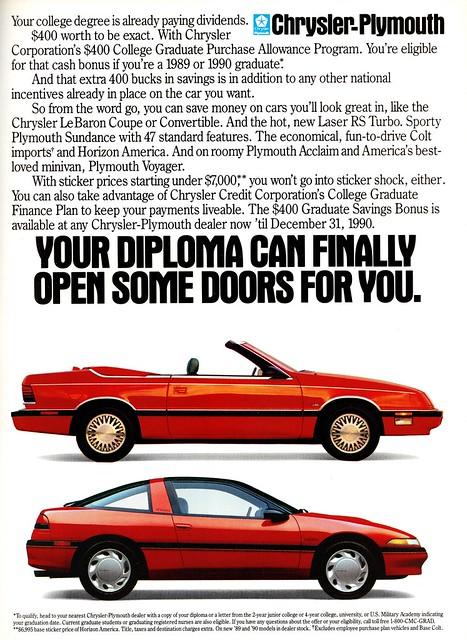 1990 Chrysler-Plymouth Ad
