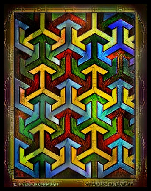 Stained Glass Version   #phoneart #design #color #arabic #arabicdesign #pattern #tessellation #deeparteffects