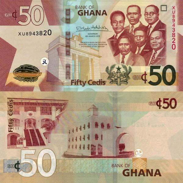 50 Cedis Ghana 4.3.2019, P42f
