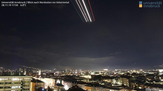 Leuchtspuren Landeanflug Origina