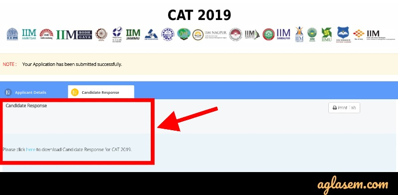CAT 2019 official key