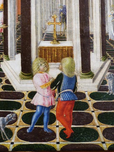 Tue, 09/08/2015 - 10:36 - Detail from 'Miracle of the Nurse' by Neroccio di Landi - Uffizi Florence 08/09/2015