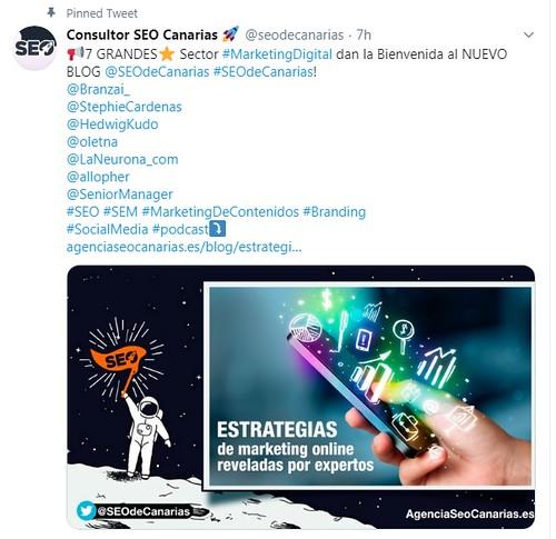 Tweet SEO Canarias para ganar los iconos