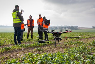 Using UAV for Geomatics & Surveying at Larkhill
