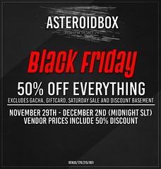 AsteroidBox. Black Friday Sale - 50% Discount