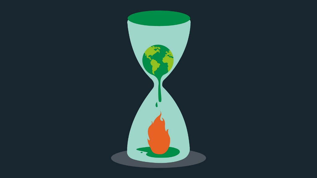 A graphic of climate change