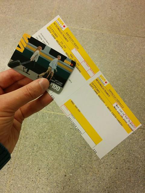 Gift card #toronto #unionstation #viarail #giftcard