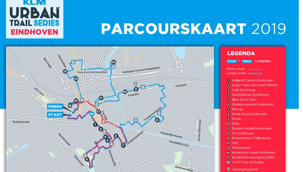 Parcours Urban trail Eindhoven