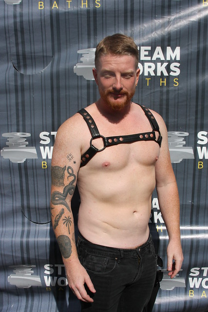 STEAMING HOT RED-HEAD GINGER HUNK ! ~ FOLSOM STREET FAIR 2019 ! ( safe photo )