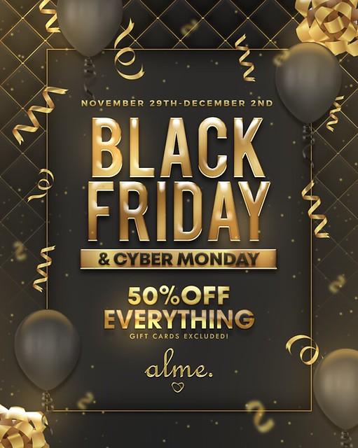 Alme Black Friday Sales!!!!