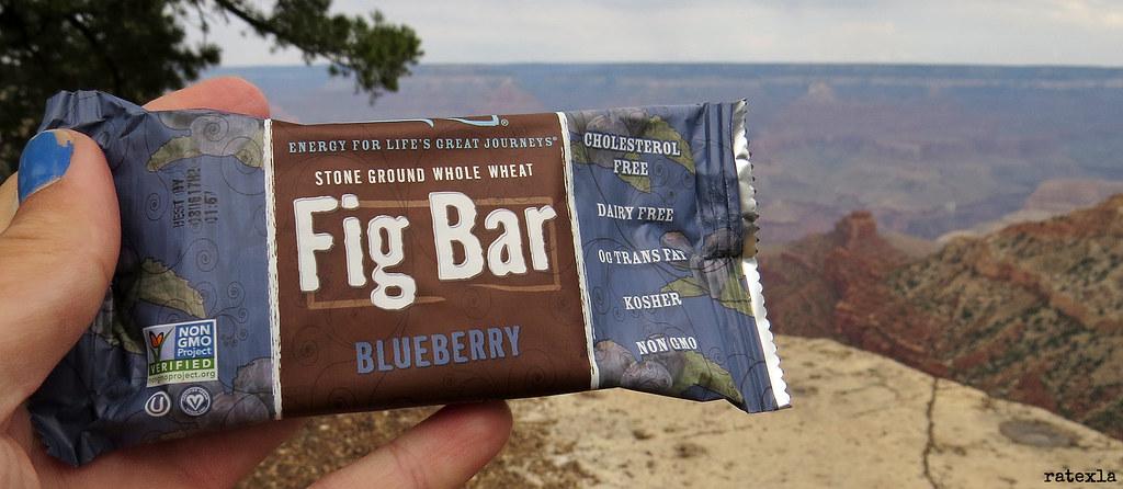 20160826_18 Vegan fig & blueberry bar munched on Rim Trail, Grand Canyon, Arizona