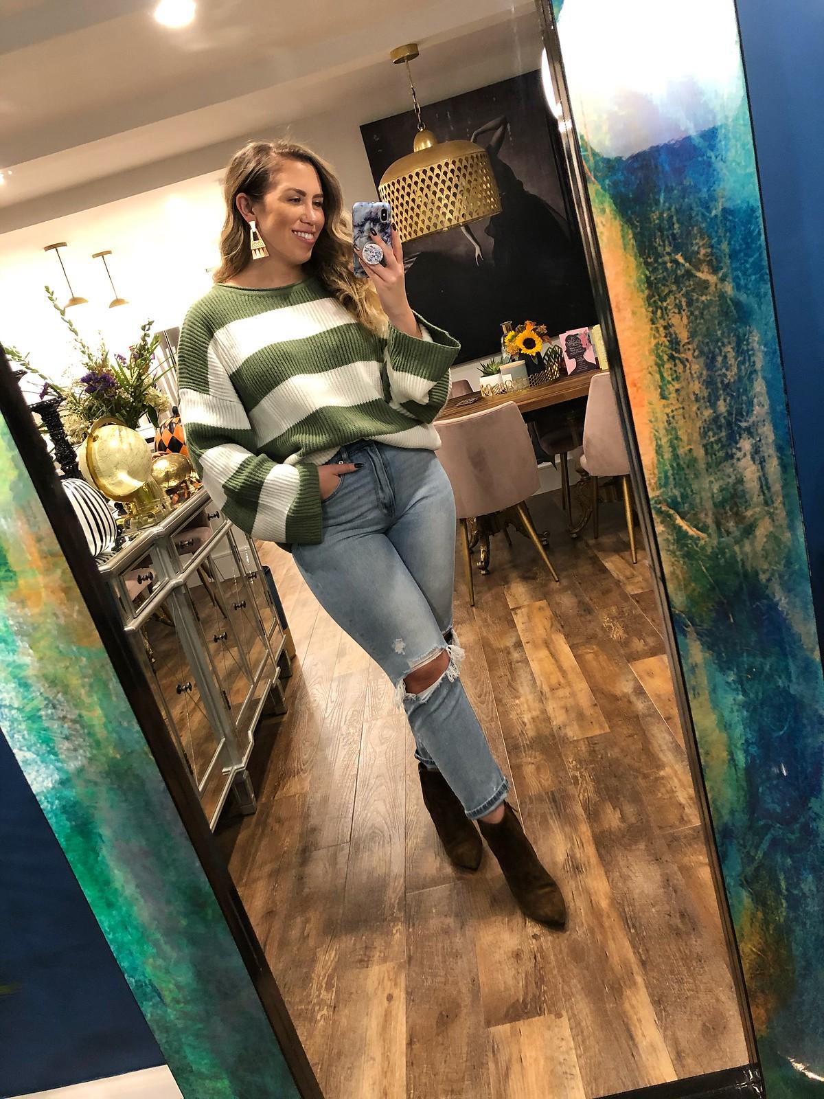 SHEIN Colorblock Sweater
