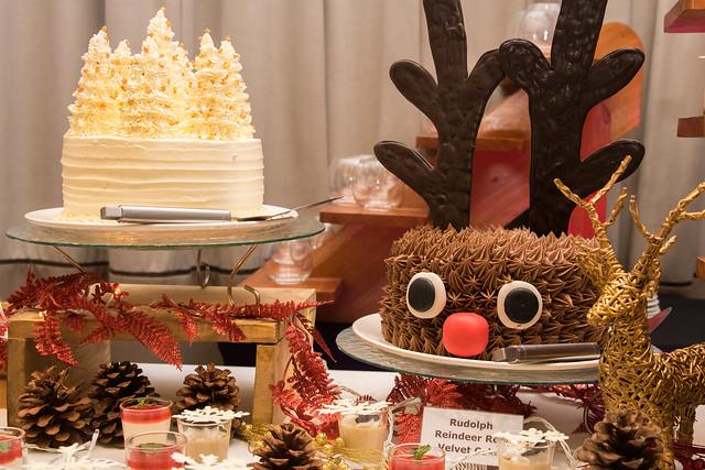 Christmas Tree Angel Cake and Rudolph Reindeer Choco Moist Cake