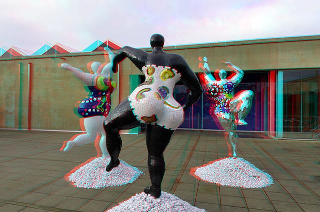 Niki de Saint Phalle aan Zee 3D