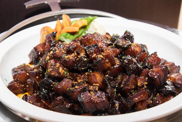 Bourbon-glazed Pork Belly Chunks
