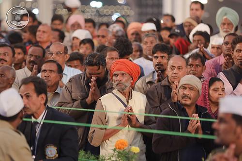 Devotees seeking blessings in Namaskar
