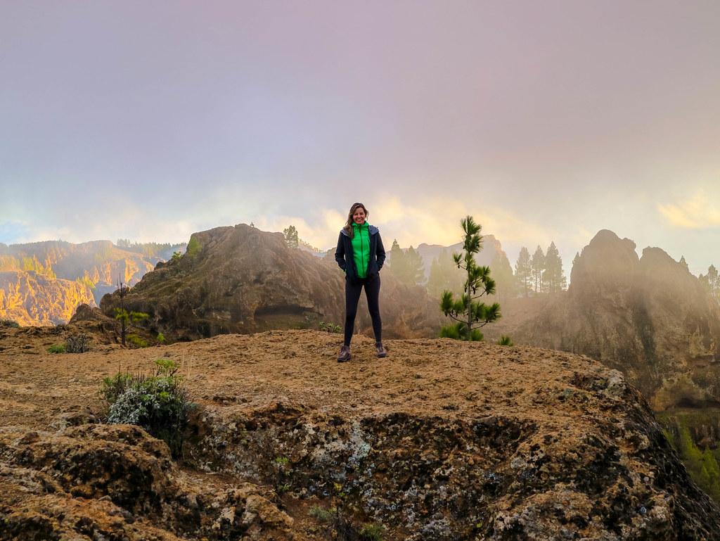 Atardecer desde el Roque Nublo en Gran Canaria