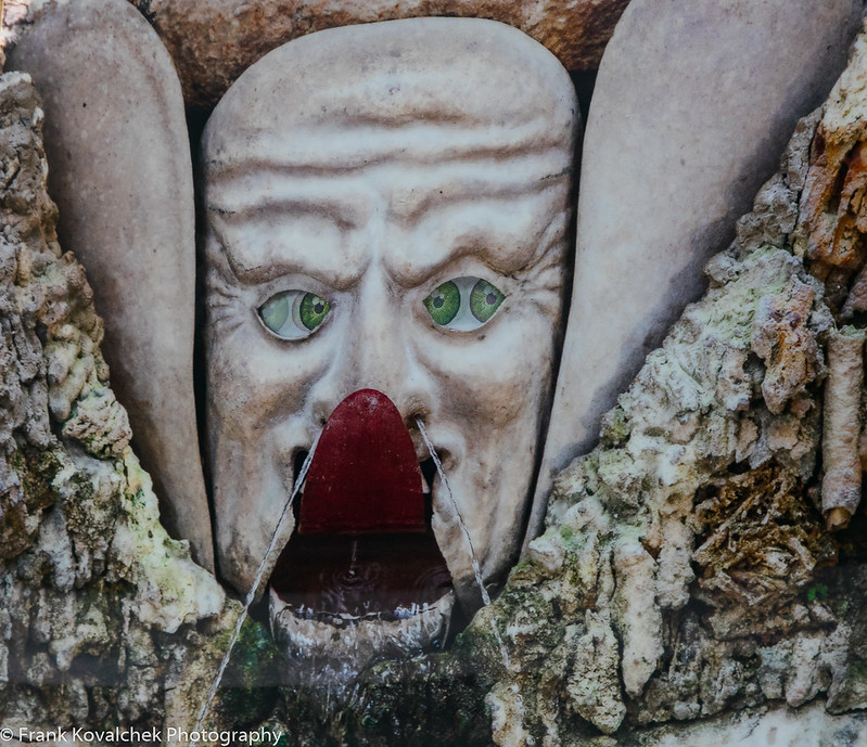 Statues and trick fountains at Hellbrunn Palace