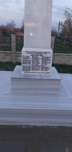 Reconstructie monumentul eroilor de la Balaceanca