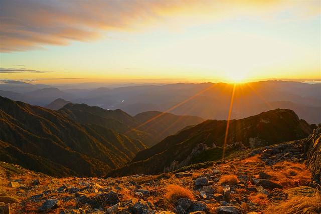 Sun set time, 2019, Mt.  Kiso-komagatake 4