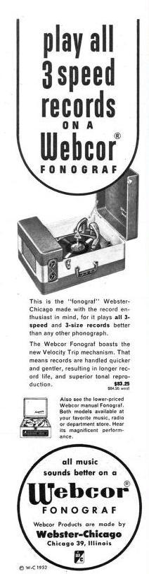 Webcor 1953