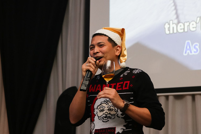 GM Ken Kapulong delivers his Christmas message to Davao lifestyle writers and bloggers