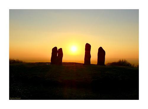 robindemel clenthillls sunset standingstones
