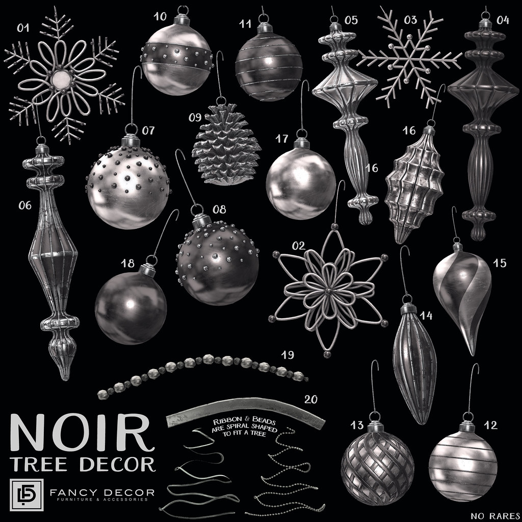 Noir Tree Decorations @ The Arcade