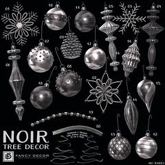 Noir Tree Decorations @ The Arcade