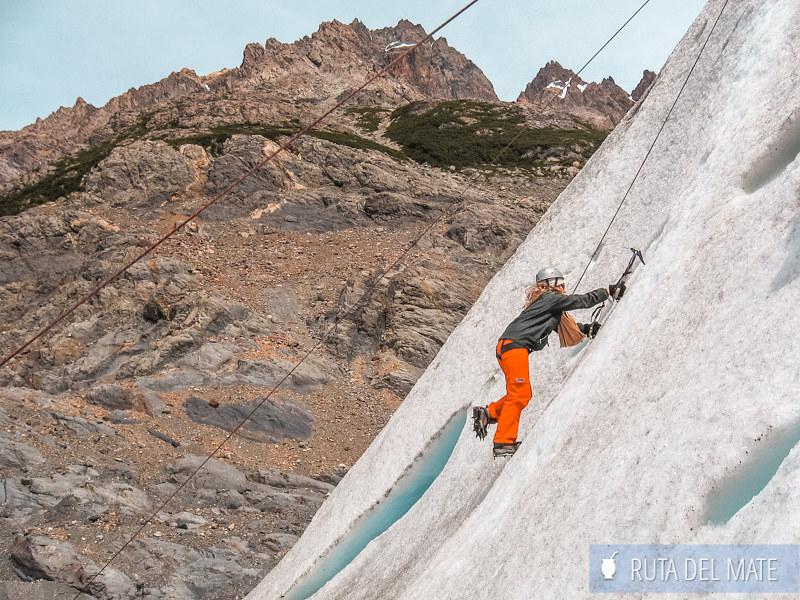 Escalada sobre el Glaciar Torre