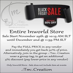 .:Tm:.Creation Black Friday Sales 50% Off