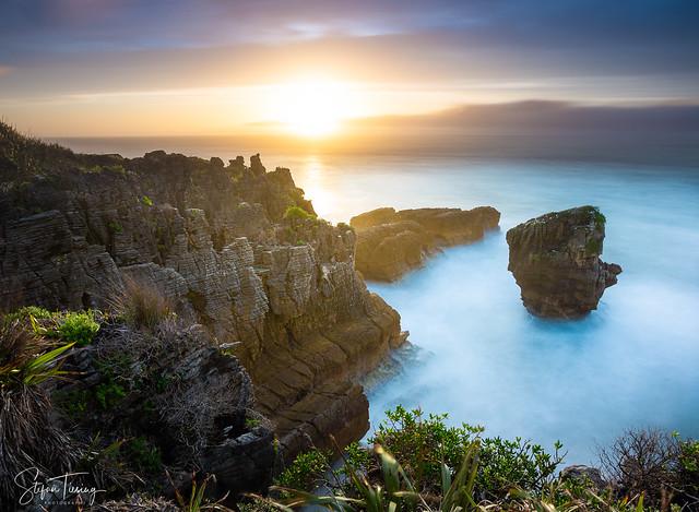 Sunset at Paparoa National Park