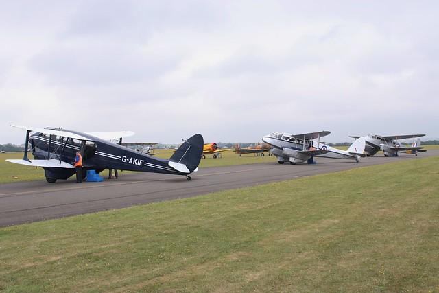 De Havilland Dragon Rapide Serials G-AKIF, G-AIDL, G-AIYR