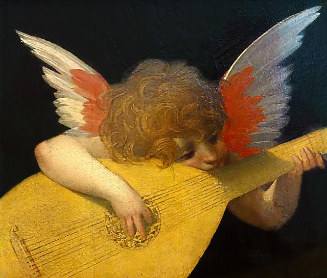 Thu, 11/28/2019 - 22:52 - Musical Putto by Rosso Fiorentino - Uffizi Florence 08/09/2015