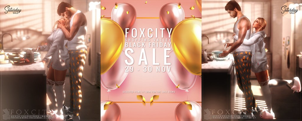 FOXCITY @ Saturday Sale + Black Friday