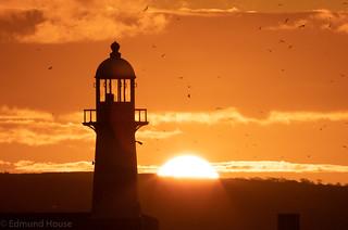 St Ives Light House Sunrise