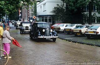 Oldtimerrit Pionier Automobielen Club, Amsterdam-Noord, augustus 1985